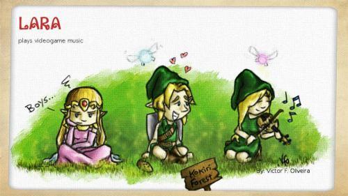 Lara as Link