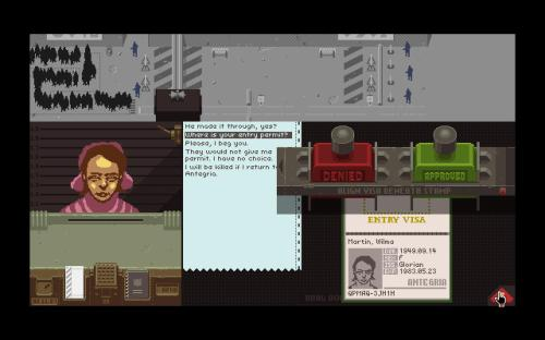 Papers, Please Decision
