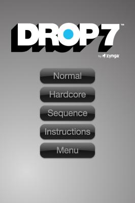 Drop7 Menu